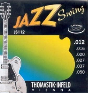 Amazon.com: CUERDAS GUITARRA ELECTRICA - Thomastik (JS/112) Jazz Swing (Juego Completo 012/050): Musical Instruments