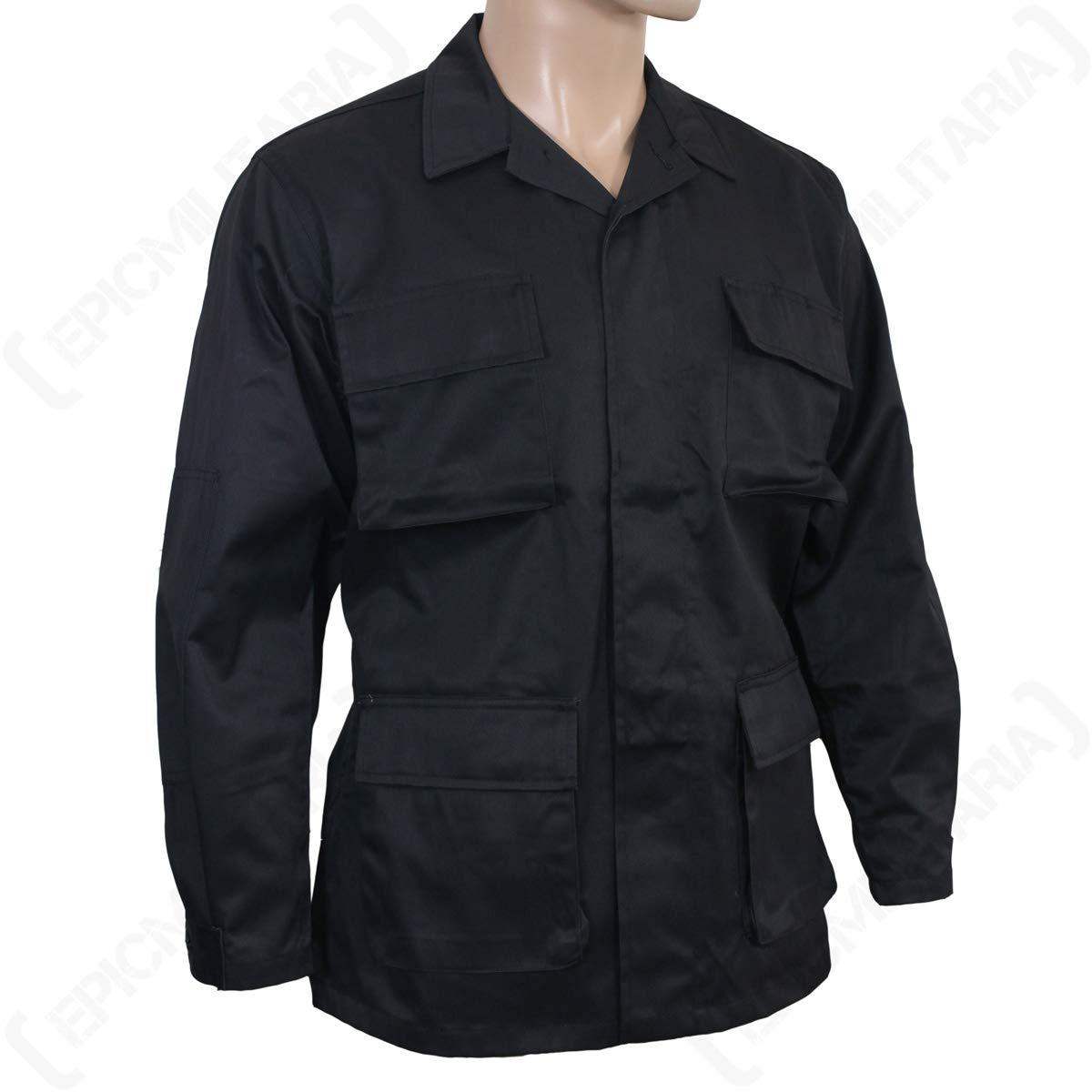 Mil-Tec BDU Combate Camisa Negro