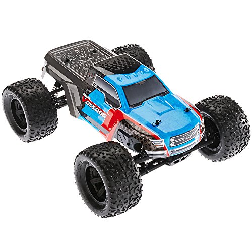 ARRMA GRANITE VOLTAGE MEGA 2WD Electric RC RTR Remote Control SRS Monster Truck with 2.4GHz Radio, Battery (x2), and Charger, 1:10 Scale (Blue/Black) -  Hobbico Inc, ARAD10**