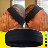 Non-Slip Yoga, Sport, Cooling Headbands That Can Absorb Sweat And Which Has A Very High Elasticity, Useful for Fitness, Gym, Great For Women And Men (Black)
