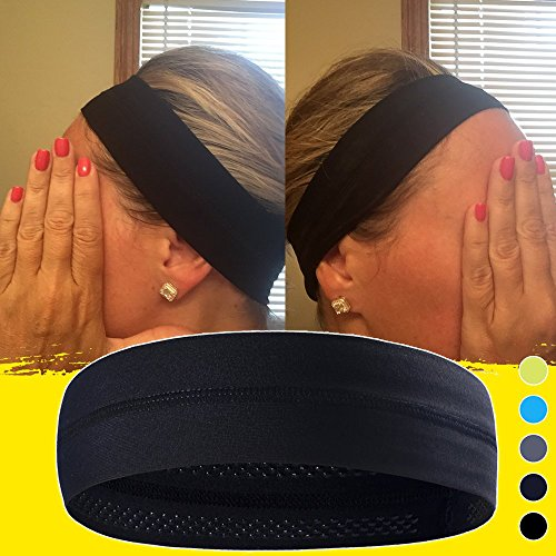 Non-Slip Yoga, Sport, Cooling Headbands That Can Absorb Sweat And Which Has A Very High Elasticity, Useful for Fitness, Gym, Great For Women And Men - Running Visors Custom