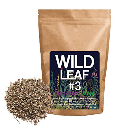 Dried Blackberry Leaf #3 Wild Leaf by Wild Foods Dried Herbal Leaves for Tea, Cooking, Infusions, Skincare, Wildcrafted (4 ounce) (Damiana Leaves)