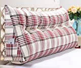 Linen Triangle Cushion Stripe Soft Package Bed Back Pad Size Diverse Optional ( Color : B , Size : 20050cm )