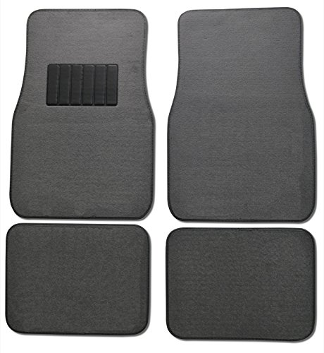 loor Mats for Car & Auto - Universal Fit -Front & Rear with  Heelpad (Light Gray) (Classic Car Mats)