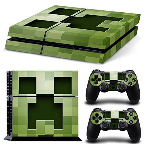 YISET Playstation 4 Console Skin & Remote Controllers Skin - Minecraft  [video game]