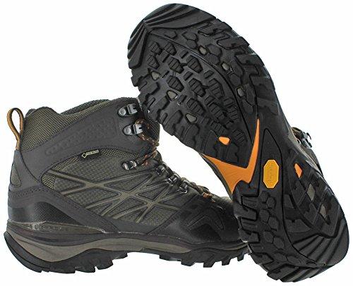 Der North Face Hedgehog Fastpack Mid GTX Wide Boot Herren Shroom Braun / Orange