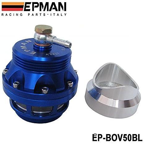 epman 50 mm soldadura o abrazadera en Blow Off Válvula Azul ep-bov50bl: Amazon.es: Coche y moto
