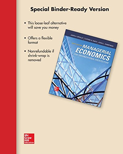 Loose Leaf Managerial Economics & Organizational Architecture with Connect Access Card
