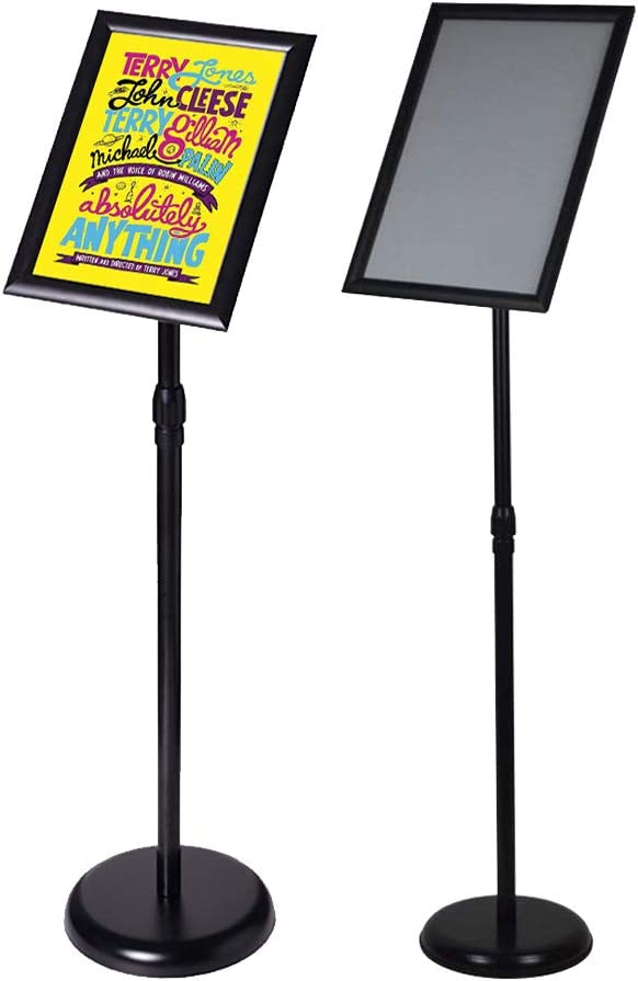 Outdoor Adjustable Sign Stand Advertising Support Board Sign Stand Poster Holder Applicable to All Kinds of Stores Exhibition Halls (Black, 8.5x11inches)