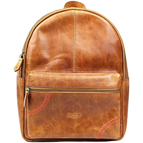 Rawlings Women's Baseball Stitch Mini Backpack, Tan, OS