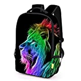Sunward Polyester Fabric School Backpack Bags 3D Animal Print Cute Laptop Hiking (H)
