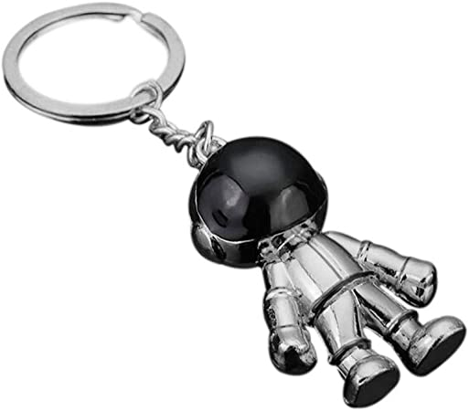 MoGist Llavero Forma de Astronauta Metal 5.5 * 3.1 * 2.1cm Plata