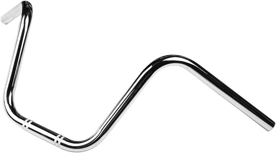 Qii lu Universal 22mm Motorcycle Steel Handlebar Handle Bar (Black//Chrome) Black