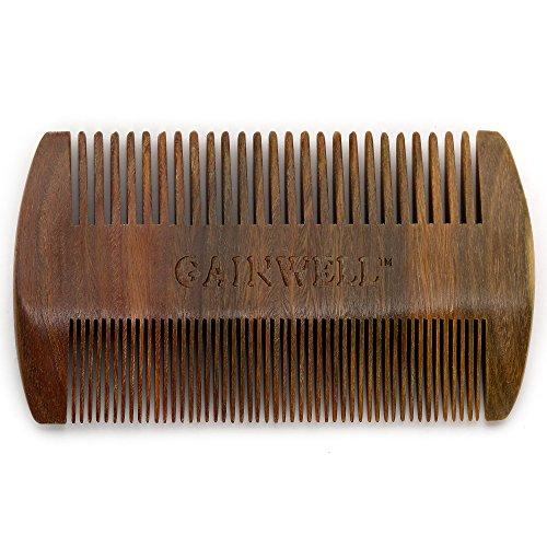 GAINWELL Sandalwood anti-static handmade comb,Pocket comb,Beard comb