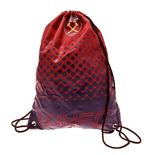 Official West Ham Utd Football Club Gym School Bag Claret Blue Fade Design