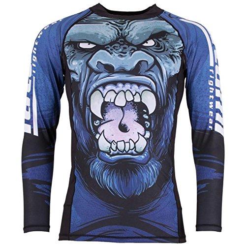 - Tatami Gorilla Smash Long Sleeve BJJ Rashguard - Large