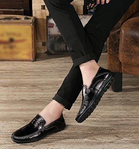 Dooxi Negocio Cómodos Negro Loafer Zapatos Moda Hombre Planos Mocasines Casual Zapatos rBSxrPqRw