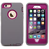 Kekco(TM) Screen Protector Heavy Duty Shockproof Rugged Hybrid Impact Defender Case Cover For iPhone 6 Plus 5.5