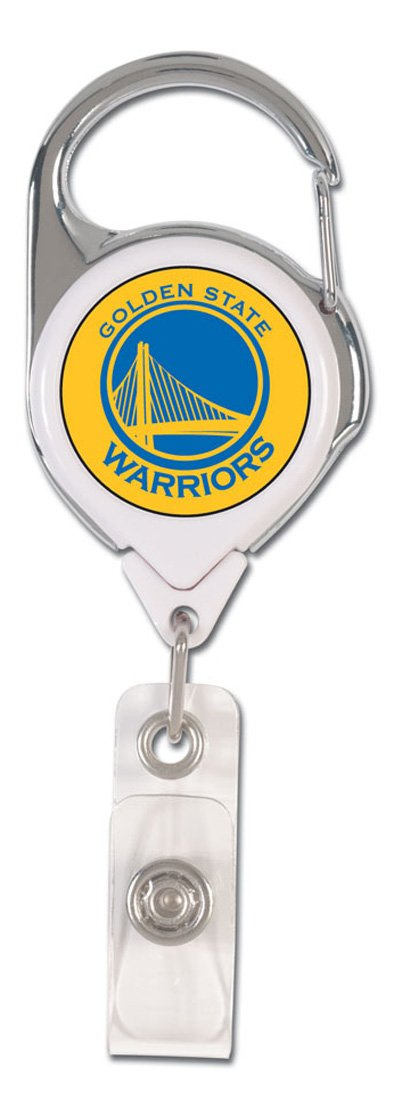 NBA Golden State Warriors Premium Badge Reel, domed acrylic decal on both sides by WinCraft