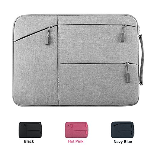 Acer Chromebook R 11 Case, CaseBuy Premium Water Repellent Laptop Sleeve for MacBook 12, Samsung Chromebook 3 11.6', HP Stream 11 and More 11-12' DELL ASUS Lenovo Notebook Carrying Bag, Grey