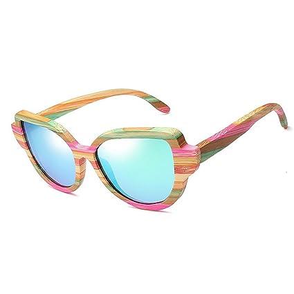 Color Polarizadas Madera Sol Ouyangyan De Gafas Rayas Marco 8nwP0OkNXZ