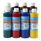 Nasco BulkKrylic Artist's Acrylic Polymer Paint Set, 8 Piece, Colors 8 oz ea., for Kids to Adults