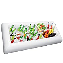 Inflatable Serving Bar, Buffet Salad Food & Drink Tray, Party Food Cooler with Drain Plug for Picnic & Camping, By Chuzy Chef