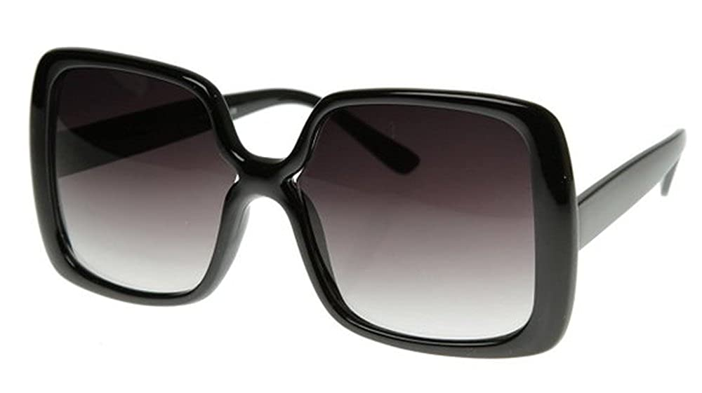 44050eb7141 Amazon.com  New Women s Vintage Style Black XL Oversized Jackie O Sunglasses  Gradient Lens  Clothing