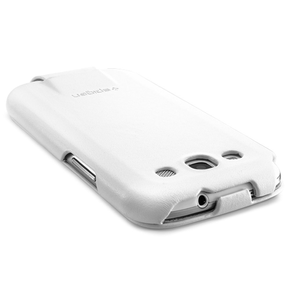 cheap for discount d22b6 29215 Spigen Argos Leather Case for Samsung Galaxy S3 White