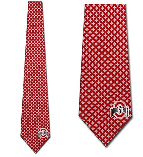 Ohio State Ties Mens Diamante Necktie by Eagles Wings