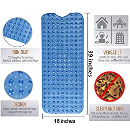 Simple Deluxe Anti-Bacterial Anti-Slip-Resistant Bath Mat, 16\