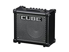 """10-watt 1-channel 1x8"""" Guitar Combo Amplifier with Aux Input, Headphone Output, COSM Amp Modeling, and Onboard Effects - Black"""