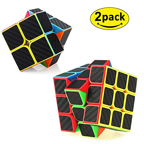 D.F.L Speed Cubes 3D Puzzles Magic Cube 3D Cube Set Rubix Cube Puzzle Cube Carbon Fiber Moyu Cube 2x2 3x3 Smooth Enhanced Version Gift for Kids and Adults