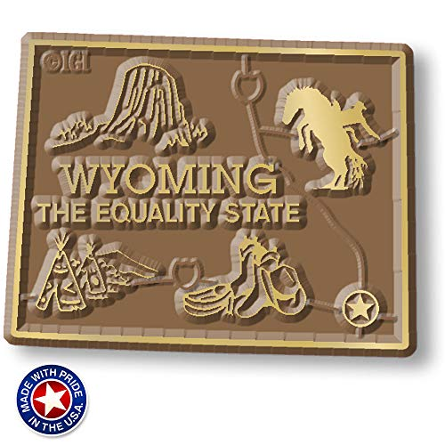 Wyoming State Map Magnet