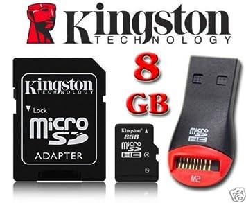 Kingston 8 GB tarjeta de memoria MicroSD para Garmin Nuvi ...