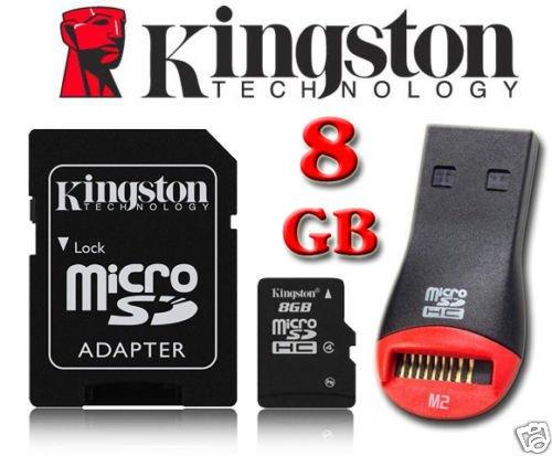 Kingston 8 GB Micro SD tarjeta de memoria Micro SDHC con ...