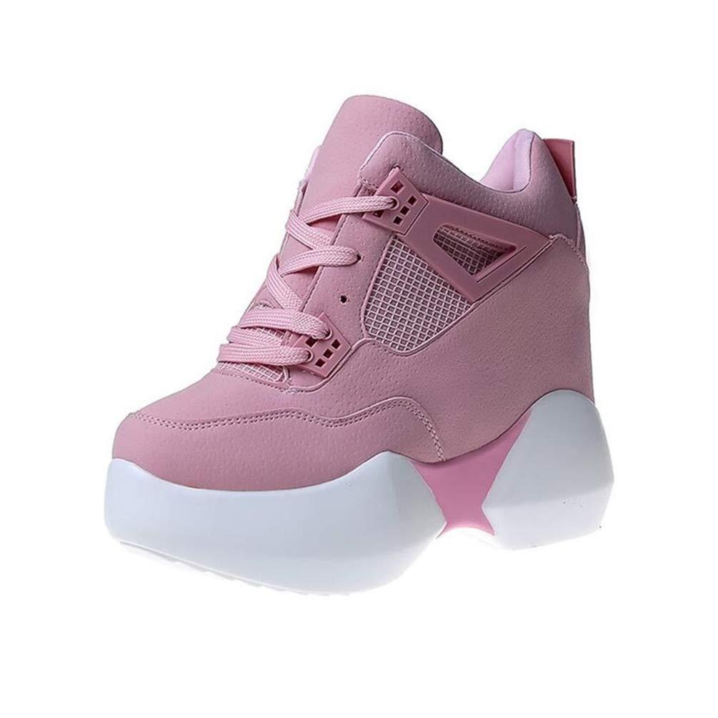 Femmes Talons B0079X88OG Hauteur de Plate-Forme de Femmes Mode Chaussures Respirant augmenté augmenté Chaussures épaisses Rose 537b9e2 - deadsea.space