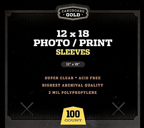 - 100 CBG 12x18 Photo/Lithograph/Print Sleeves - Archival Quality Protection for Your Photos Litho and Prints