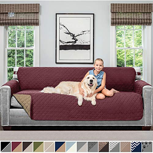 Sofa Shield Original Patent Pending Reversible Oversize Sofa Slipcover, Dogs, 2