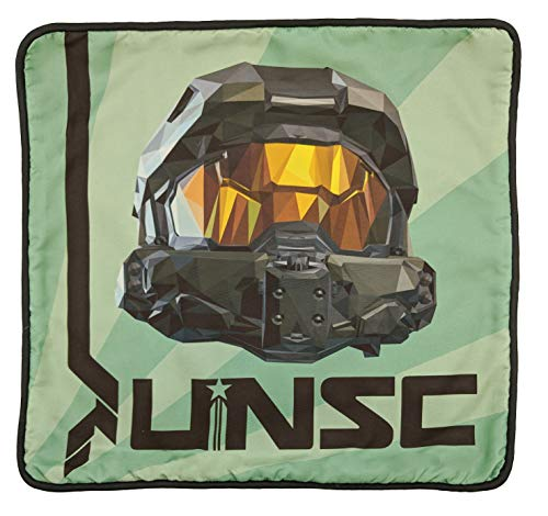 Jay Franco Halo Master Chief Decorative Pillow Cover - Kids Super Soft 1-Pack Throw Pillow Cover - Measures 15 Inches x 15 Inches (Official Halo Product)