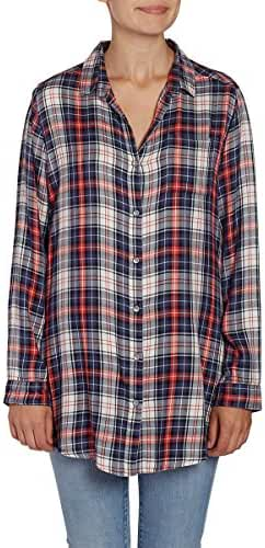 Jag Jeans Womens Magnolia Tunic in Rayon Plaid