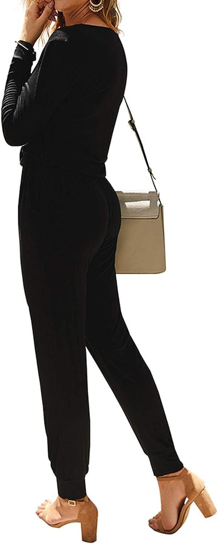 MINTLIMIT Donna Tuta Elegante Vita Alta Manica Corta Tuta Casual Gamba Larga Pantaloni Sciolti Tutine Complessiva