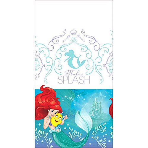 Ultimate Little Mermaid Party!!!Birthday Party Decoration Supplies Bundle Pack with 16lg&16sm Plates 16-9oz Cups, Matching Table Cover&Hanging Swirl Pack,50 Napkins(Bonus Matching Party Straw Pack) by Everyday Party Bundles (Image #4)