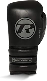 Ringside Stealth Leather Lace Up Boxing Gloves Black Ringside Boxing