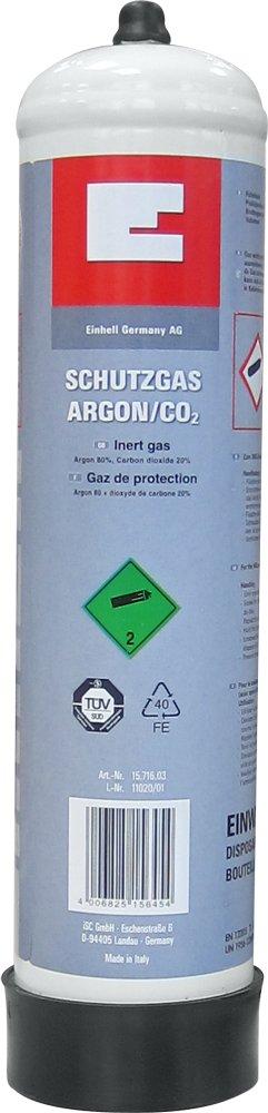 Einhell Schutzgas CO2 Kohlens/äure, Einwegflasche