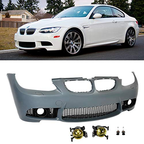 Front Bumper/Yellow Fog Lights M3 Style For E92 BMW 2007-2010 Coupe 3-Series