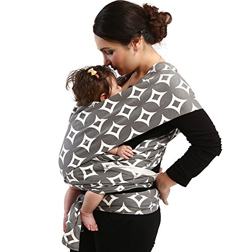 Uarter Baby Wrap Infant Sling Style Carrier Breastfeeding Cover Warm Cotton Blanket, Suitable for Newborns to 35 LBS (coin)