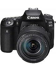 Canon EOS 90D Spiegelreflexcamera, met lens EF-S 18-135mm F3.5-5.6 IS USM (32,5 MP, 7,7 cm (3 inch) Vari-Angle aanraak-lcd, APS-C-sensor, 4K, full-hd, wifi, bluetooth), zwart