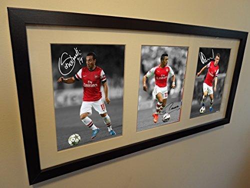 8d2f6487a6d Signed Arsenal Triple Picture Alexis Sanchez Cazorla Aaron Ramsey Photo  Picture Frame by Kicks