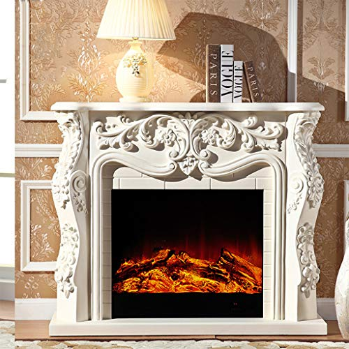 Cheap Electric Fireplaces ADKINC 30 Inches Recessed Adjustable Electric Freestanding Fireplace Heater with Remote Control 750W-1500W - Decoration/Heating - (White Yellow) Black Friday & Cyber Monday 2019